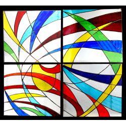 Vidriera Lucernario Abstracto