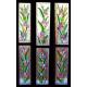 Vidriera ventana floral 01