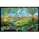 Vidriera paisaje arboles