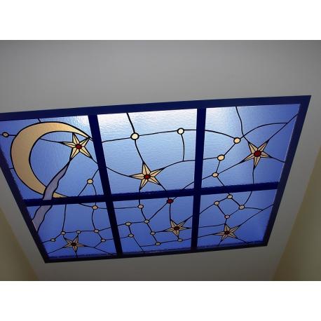 """Vidriera lucernario """"Constelaciones"""""""