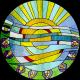 """Vidriera ojo de buey """"Sistema Solar"""""""