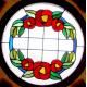 Vidriera Ojos de buey floral 01