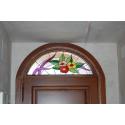 """Vidriera puerta """"medio punto floral"""""""