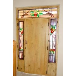 """Vidriera puerta exterior """"Guirnaldas"""""""