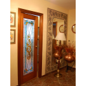 Vidriera puerta victoriana lazo larga