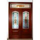 Vidriera puerta exterior victoriana lazo dobles