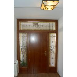 Vidriera puerta exterior biseladas fijos