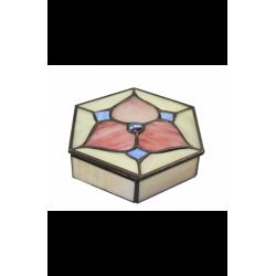 "Caja-joyero ""Flor rosa"""