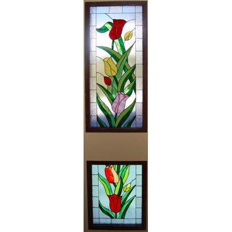 Vidriera florar tulipanes 01