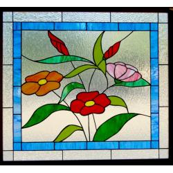 Vidriera floral Cambil