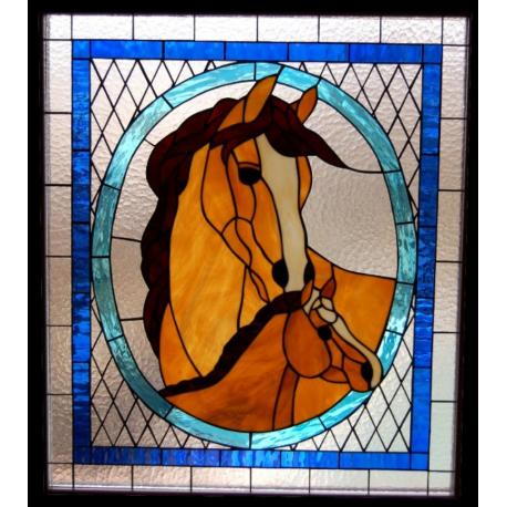 Vidriera caballo y potro
