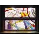 Vidriera abstracta cocina-salón