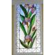 Vidriera floral tulipanes Noalejo
