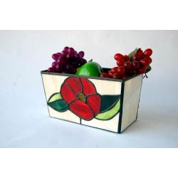 Macetero- centro Flor roja