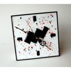 Reloj sobremesa fusing Blanco y negro