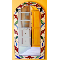 Espejo tiffany greca floral