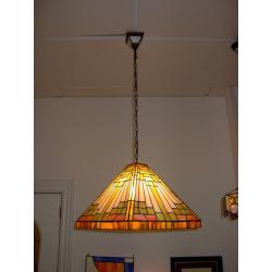 """Lámpara Tiffany de techo """"Pirámide tiras"""""""