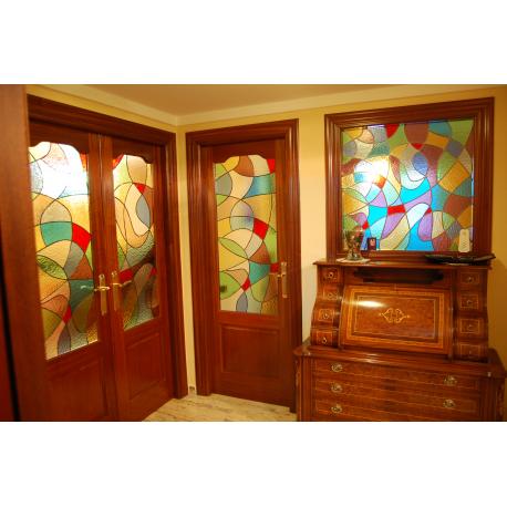 Vidriera puerta abstracta 01