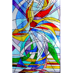 Vidriera abstracta 01