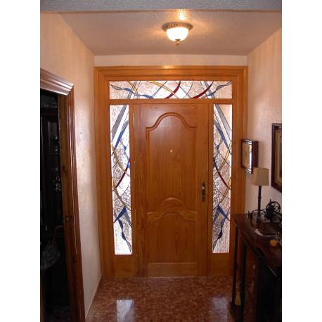 Vidrieras puerta exterior fijos abstractos 006