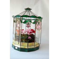 Terrarium tiffany Flores y guirnaldas