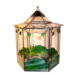 Terrarium tiffany Exagonal verde gemas