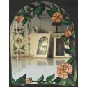Espejo tiffany flores naranjas