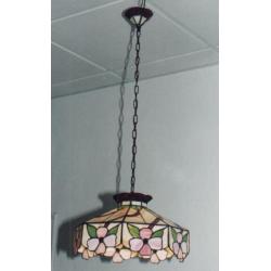 """Lámpara Tiffany de techo """"Flores rosas"""""""