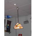 """Lámpara Tiffany de techo """"Pirámide ondas"""""""