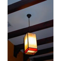 "Lámpara Tiffany de techo ""Prisma rectangular lisa"""