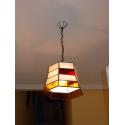 "Lámpara Tiffany de techo ""Exagonal tiras"""
