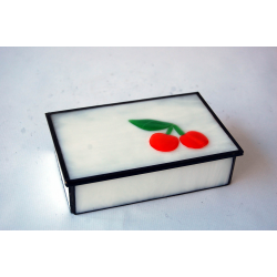 "Caja-joyero fusing ""Cerezas"""